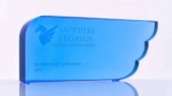 Crystal prize for winner of Sapphire Pegasus Award