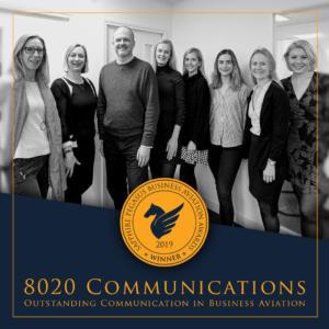 SPBAA 2019 Winner - Outstanding Communication in Business Aviation - 8020