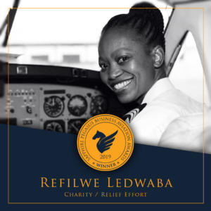 SPBAA 2019 Winner - Charity / Relief Effort – Refilwe Ledwaba